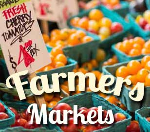 Farmers markets abound in our area, featuring fresh farm produce and lively entertainment