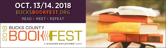 Join us for the Bucks County Book Festival in downtown Doylestown (October 13 and 14), a celebration connecting authors and book lovers young and old. More than 40 professionally published authors will appear at the Festival, which will also feature a children's festival, writing workshop, adult and YA fiction and nonfiction author panels, and keynote speakers. Most events are free. Visit our website for a full schedule, event and author information, and locations.