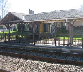 Ambler train station in Montgomery County, PA